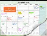 Planificadores y calendarios para el hogar 2020